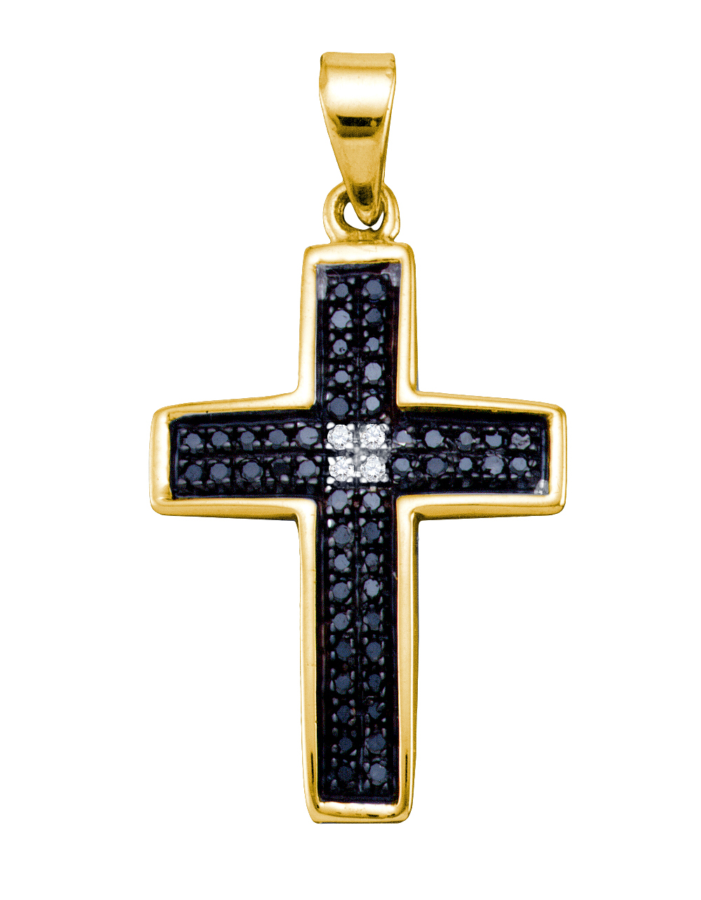 0.15CTW DIAMOND CROSS CHARM / Womens